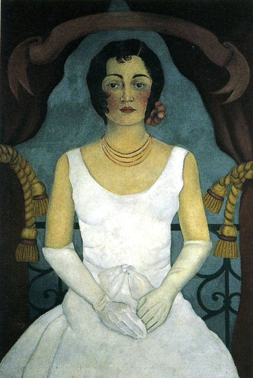 frida woman in white